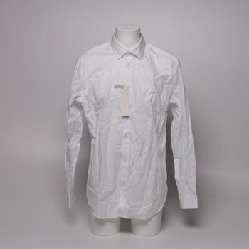 Pánská bavlněná košile Esprit business bílá