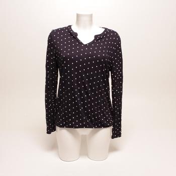 Dámské tričko Esprit černé s puntíky