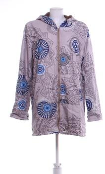 Dámská podzimní bunda s kapucí béžová XXXXL