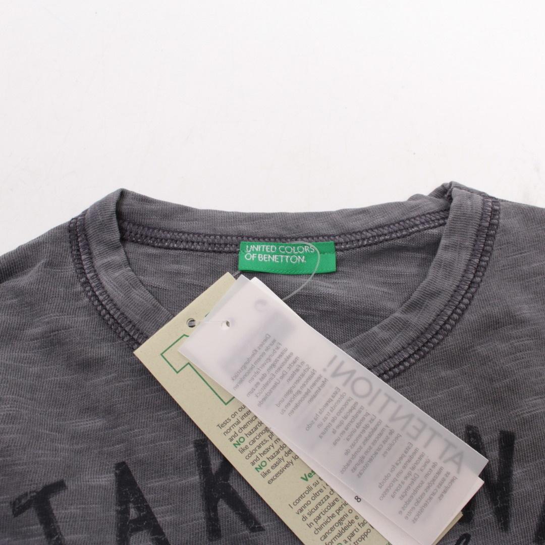 Dětské tričko Benetton šedé