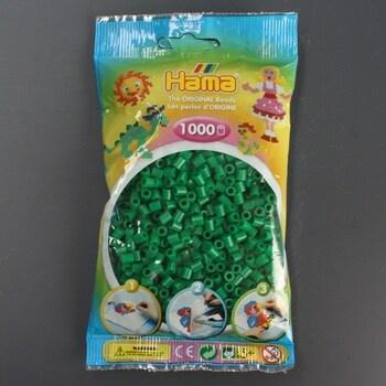 Zažehlovací korálky Hama MIDI tmavě zelené