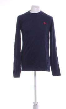 Pánské tričko dlouhý rukáv U.S. Polo modré L