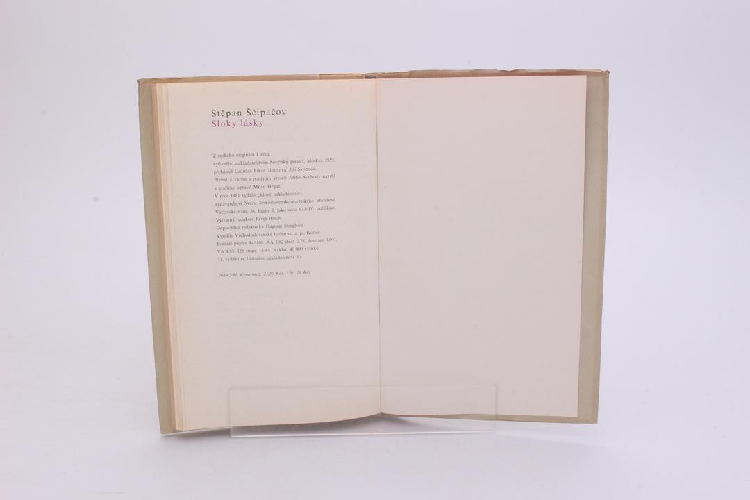 Kniha Stěpan Petrovič Ščipačov: Sloky lásky
