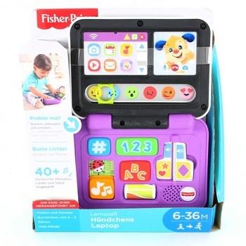 Dětský notebook Fisher Price fialové barvy