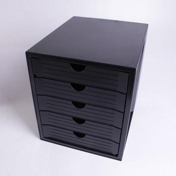 Zásuvkový box HAN s pěti šuplíky černý