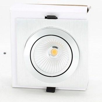 Bodové LED svítidlo 13 x 13 cm stříbrné