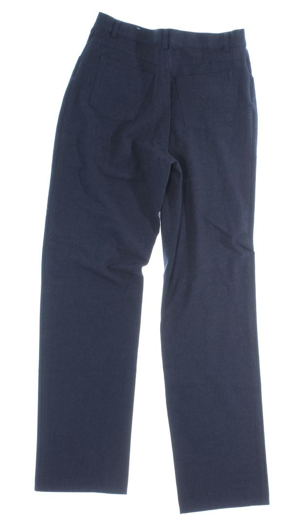 Dámské kalhoty tmavě modré společenské