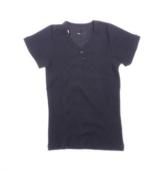 Dívčí tričko Ami s knoflíčky černé