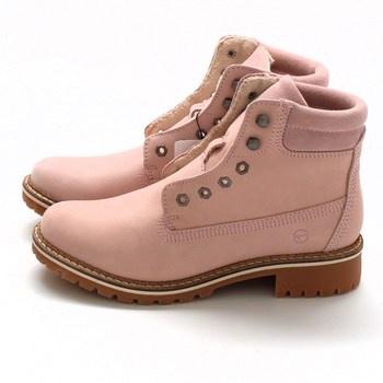 Dámské růžové zimní boty Tamaris