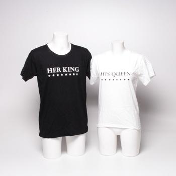 Trička pro pár King queen shirts DE-JT- QL00