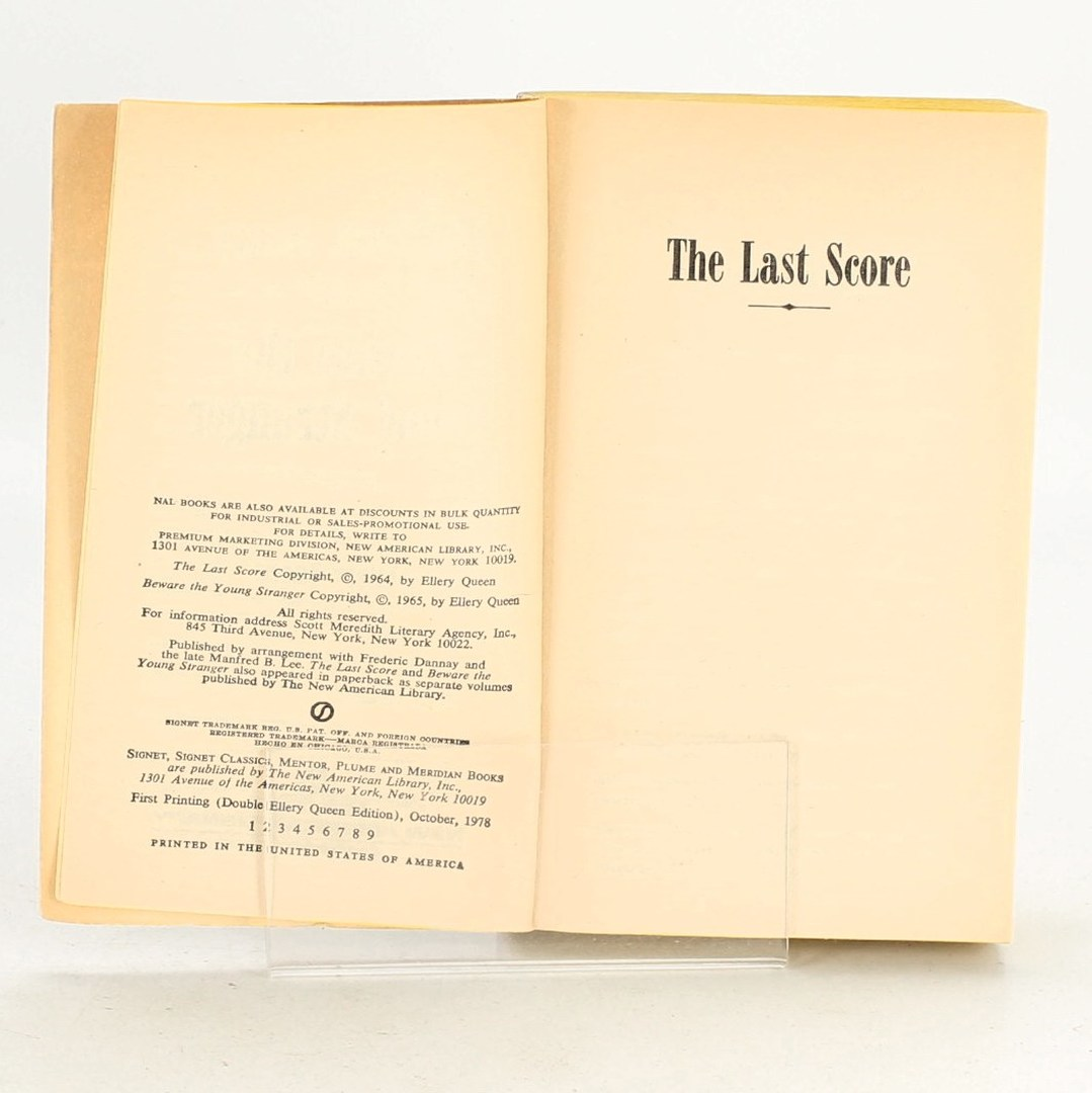 The last score & Beware the young stranger