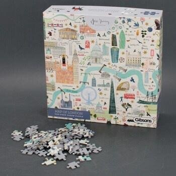 Puzzle Gibsons G6606 mapa Londýna