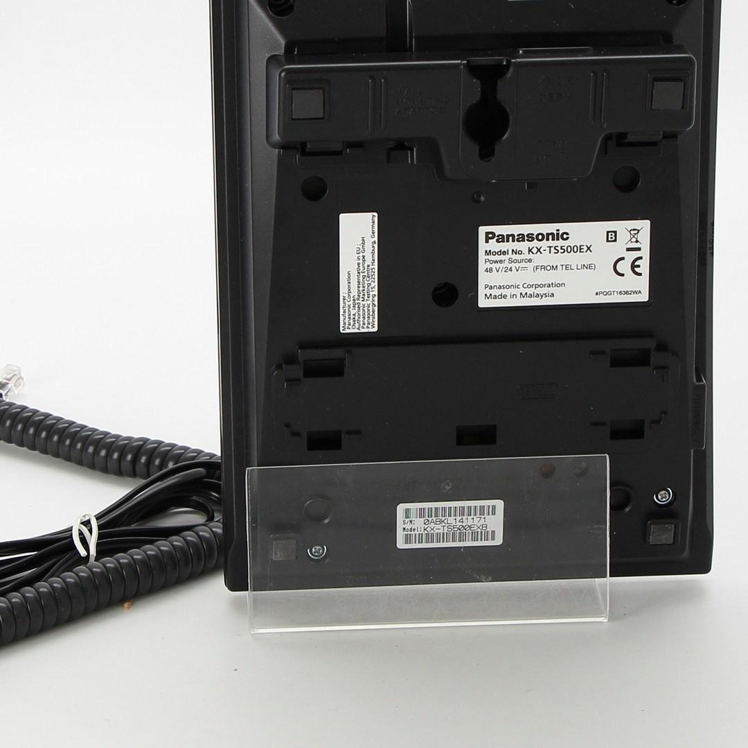 Pevný telefon Panasonic KX-TS500EXB černý