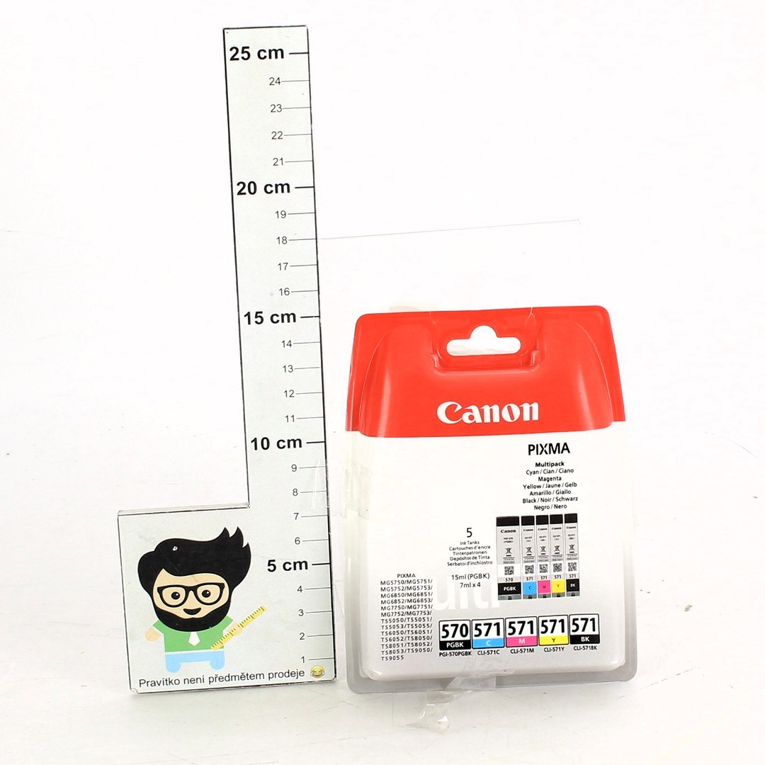 Inkoustové náplně Canon 570 a 571 5 ks