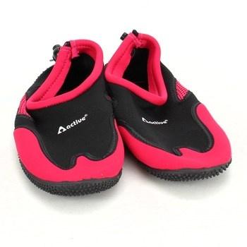 Boty do vody Active odstín červené a černé