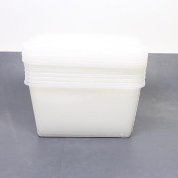 Plastové boxy s víky Iris Top Box 6 ks
