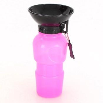 Láhev na vodu pro psa růžová