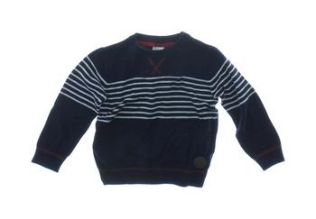 Dětský svetr F&F modrý s bílými proužky