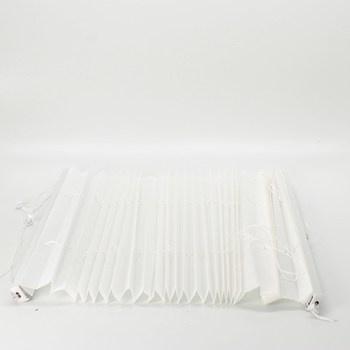 Vyztužené plissé DUBO bílé barvy