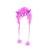 Čepice příšerky s maskou a rohy fialová