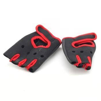 Cyklistické rukavice černočervené