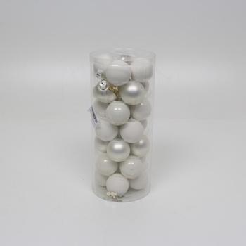 Ozdobné vánoční koule - bílé