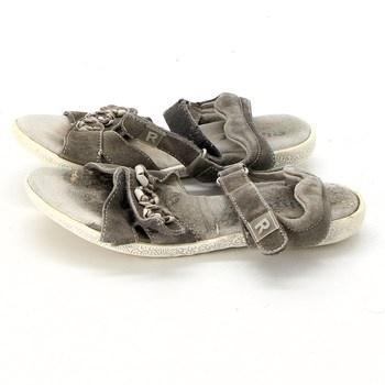 Dámské sandály semišové suchý zip