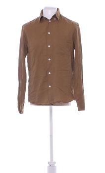 Pánská košile s dlouhým rukávem H&M hnědá