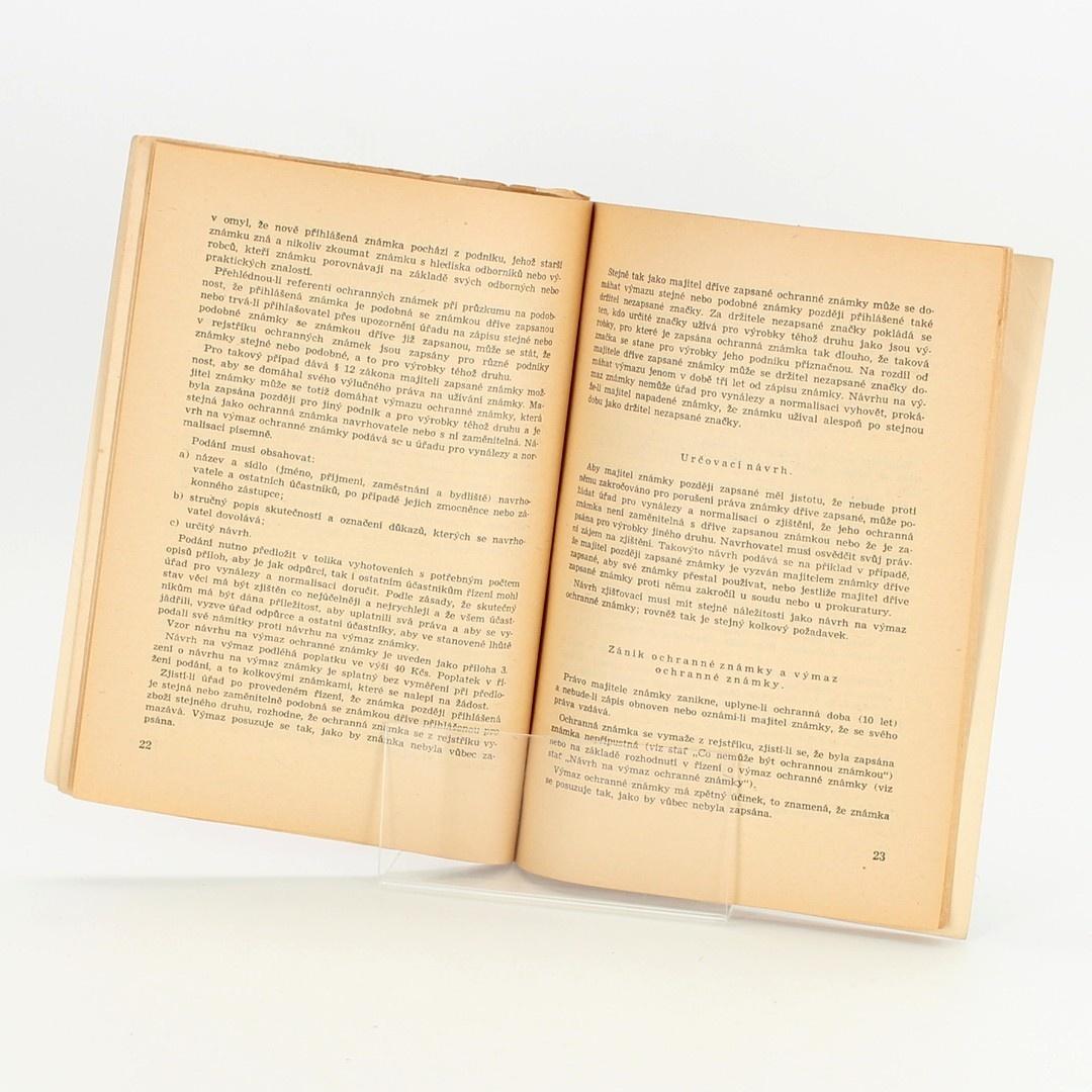 Brožura Ochranné známky Vladimír Sedláček