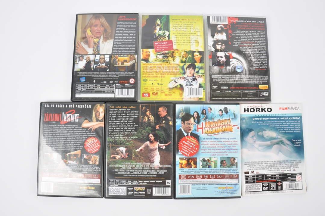 7x DVD - Pod Moskvou, Box a další