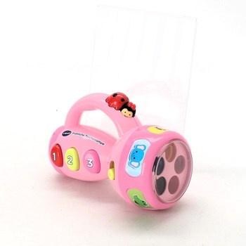 Dětská baby baterka Vtech růžová