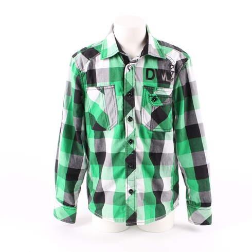 Dětská košile DWD kostkovaná zelená - bazar  b18bd86e21