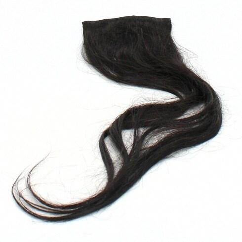 Vlasový příčesek černý 58 cm