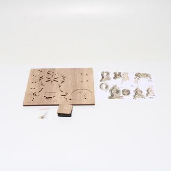 3D dřevěné hodiny Amy & Benton LQD026 M