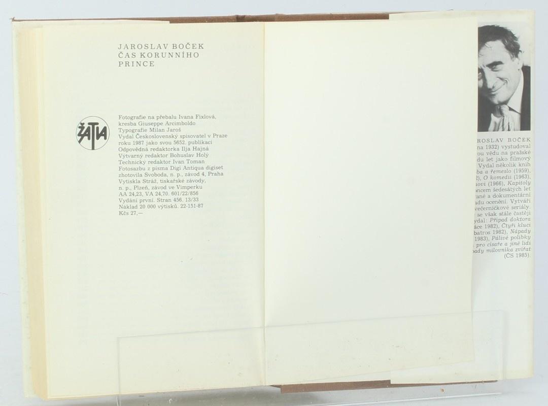 Kniha Jaroslav Boček: Čas korunního prince