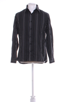 Pánská košile George černá s pruhy