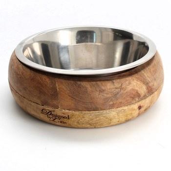 Miska pro psy Karlie ze dřeva a nerezu