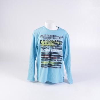 Dětské tričko s.Oliver bledě modré s popisem