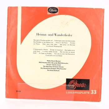 Gramofonová deska Heimat-und Wanderlieder