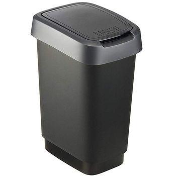 Odpadkový koš Rotho Twist  černý 10 l