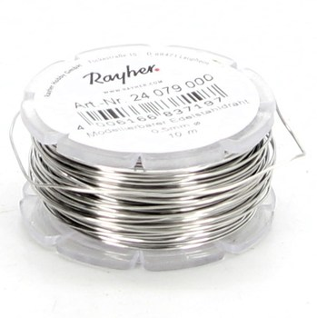 Modelovací stříbrný drát Rayher 10 metrů