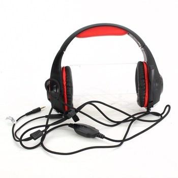 Herní sluchátka Beexcellent GM-1 červená