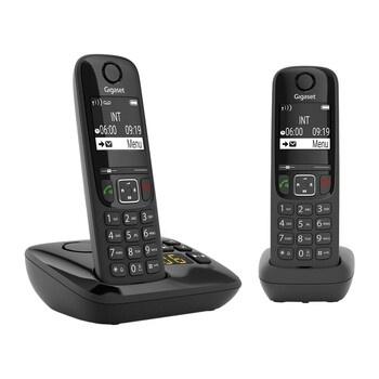 Bezdrátové telefony Gigaset AS690A Duo černé