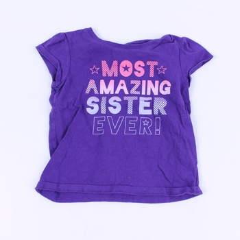 d3c13bbbfa87 Dívčí tričko Place odstín modré s nápisem
