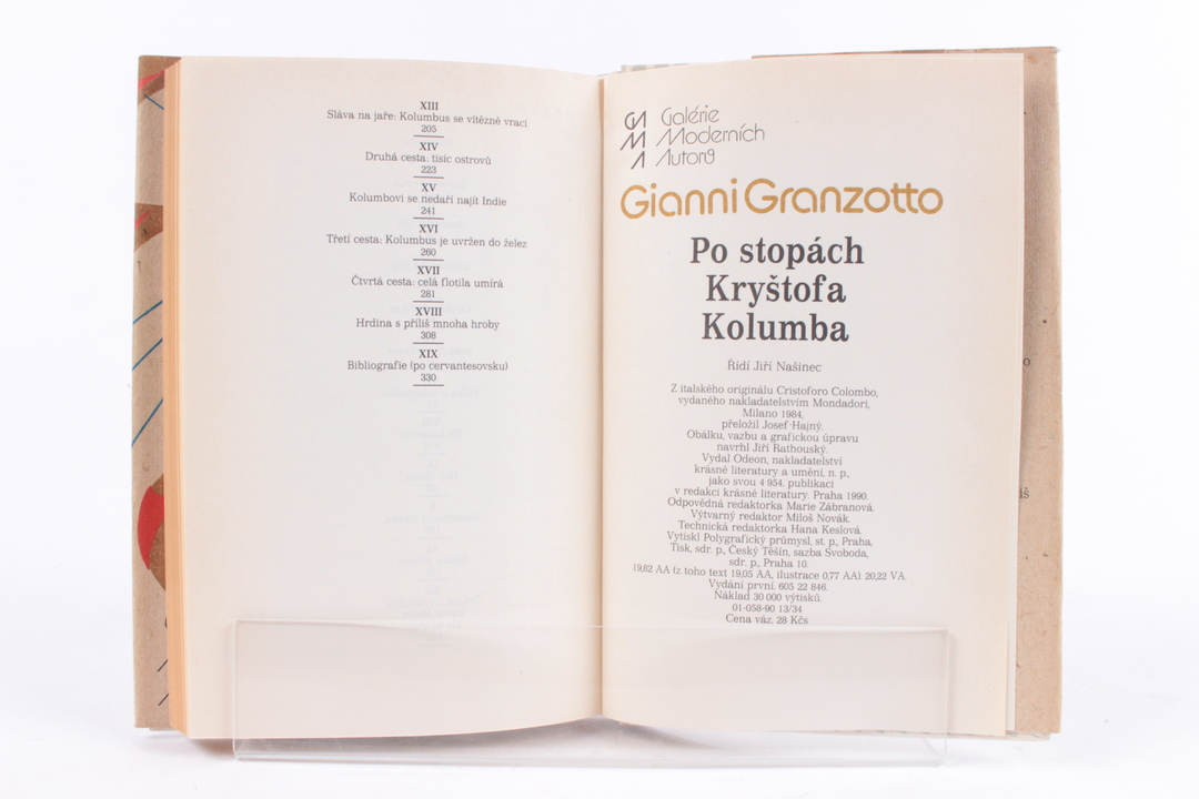 Kniha G.Granzotto po stopách K.Kolumba