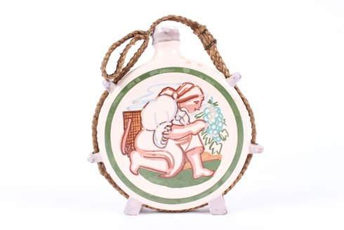 Keramická nádoba s ilustracemi