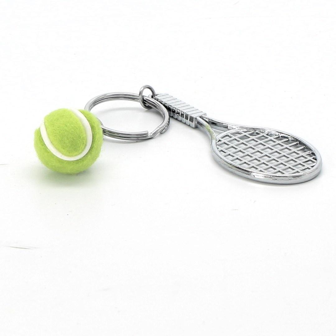 Klíčenky ve tvaru tenisové rakety EQLEF 2 ks
