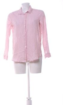 Dámská proužkovaná košile H&M růžová