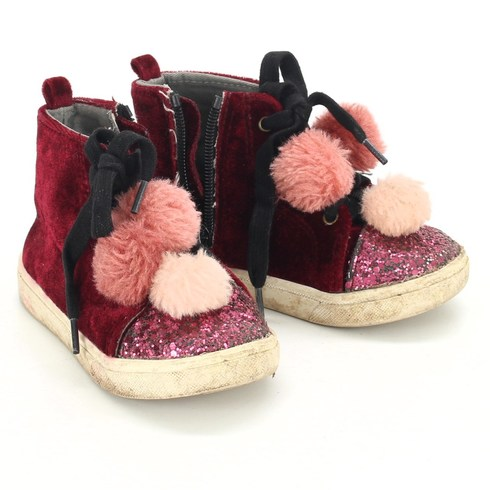 Dívčí kotníkové boty Lindex červené - bazar  91bd9085db