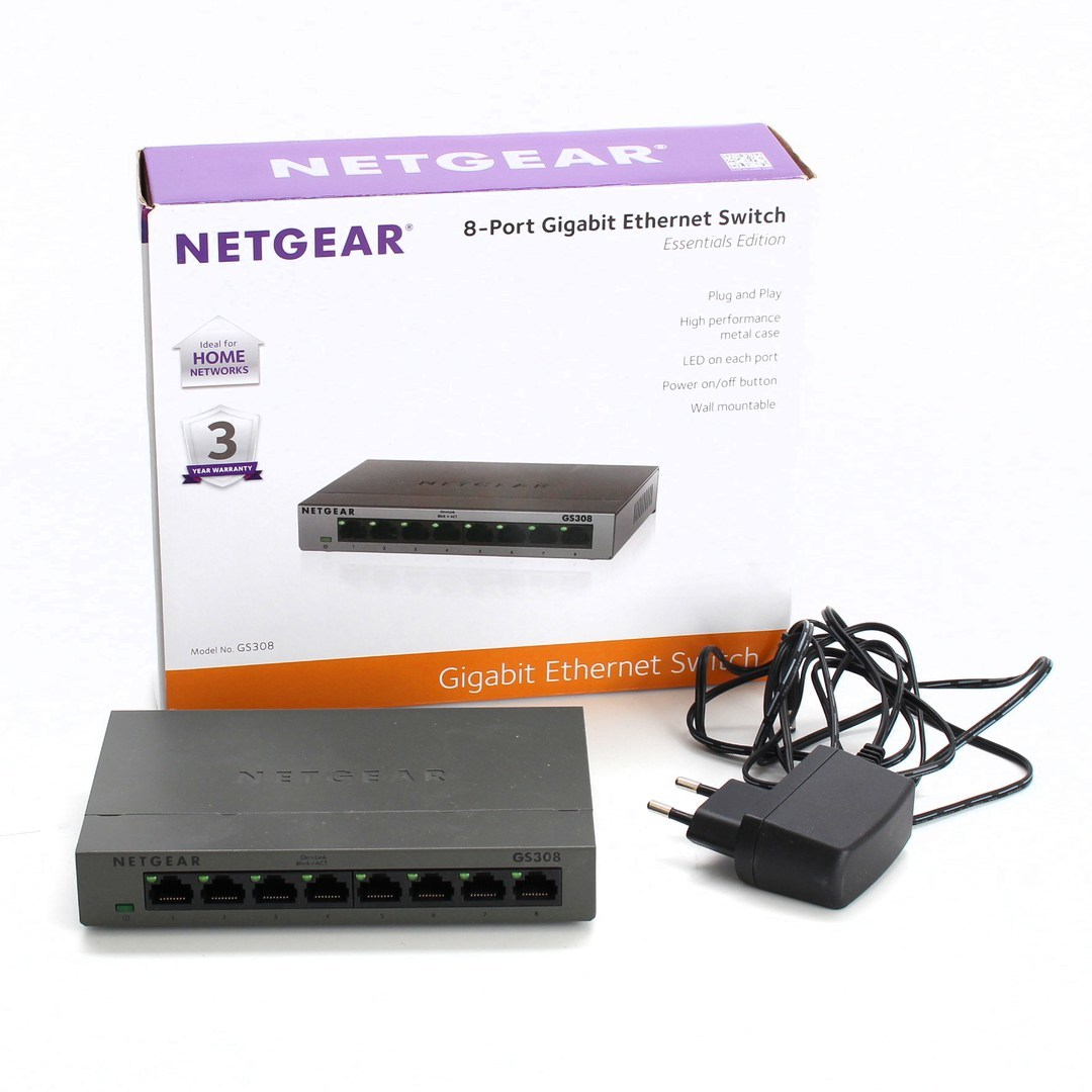 Switch Netgear Gigabit Ethernet GS308